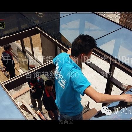 现场工程阳光房案例/镀膜中空玻璃
