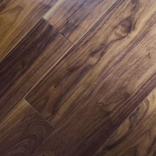 扬子地暖地板-黑胡桃