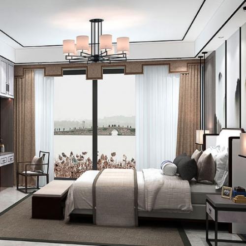艾迪全屋定制-新中式系列卧室空间