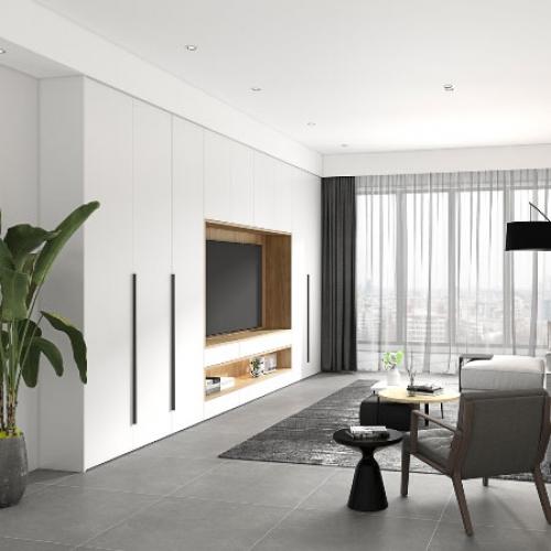艾迪全屋定制-北欧极简系列客厅空间