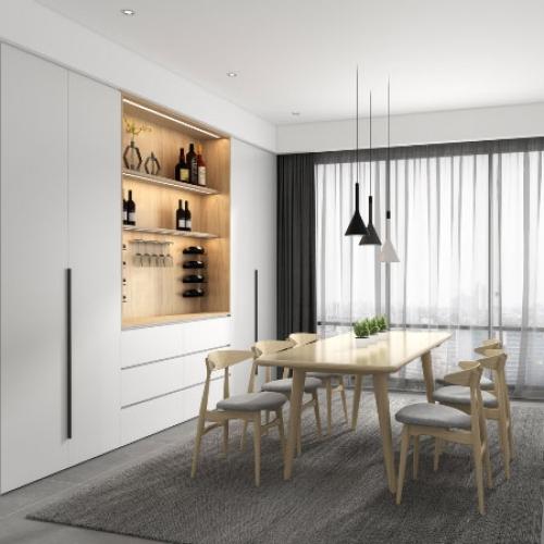 艾迪全屋定制-北欧极简系列餐厅空间