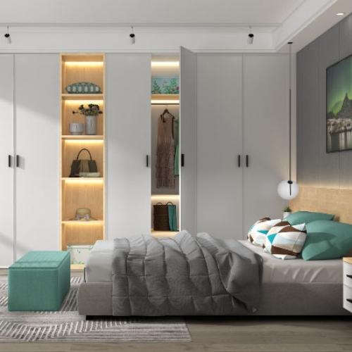 艾迪全屋定制-北欧极简系列卧室空间