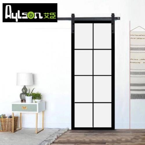 艾臣-窄边框系列铝合金玻璃门谷仓门