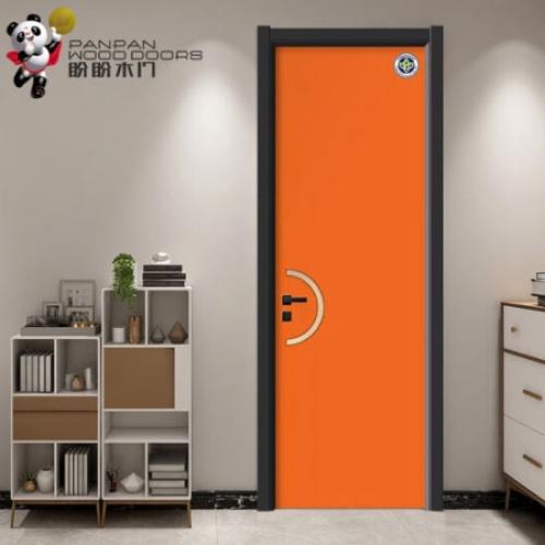 盼盼木门 室内卧室门PPY-D002(爱马仕橙+拉丝金)