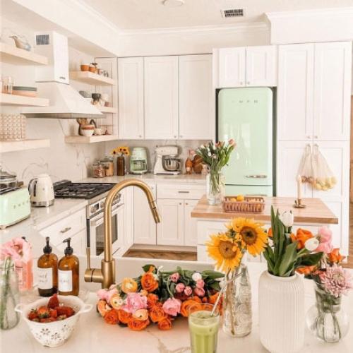 拉斐尔 粉红风格厨房